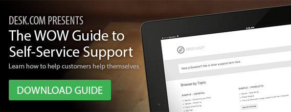 The WOW Guide to Self-Service Support - Download Now