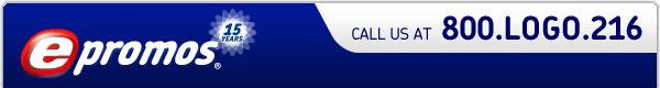 epromos - call us at 800.logo.216