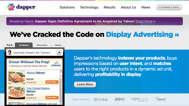 yahoo acquires display ad specialist dapper