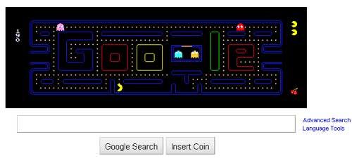 Pacman Google Doodle