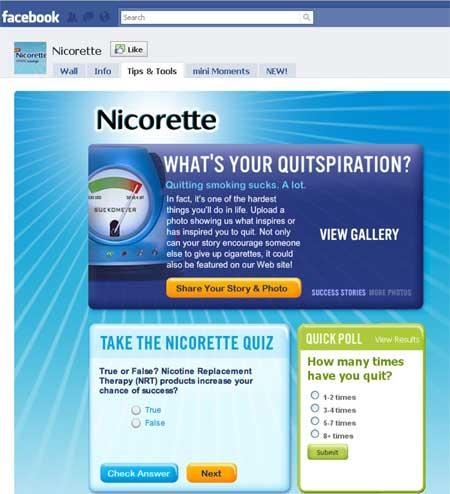 Nicorette-Facebook