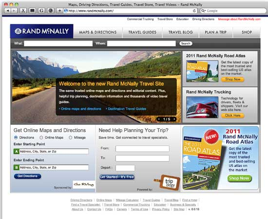 Rand McNally Relaunches Its Travel Site - Rand mcnally online maps