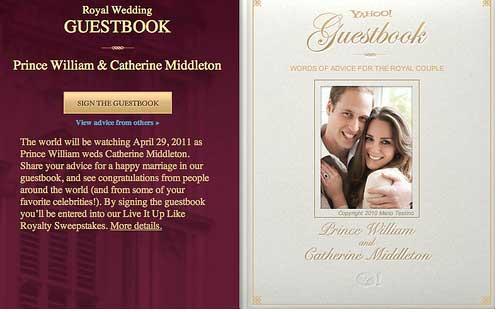 Yahoo Launches Royal Wedding Website