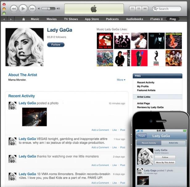 Apple Ping Social Music Service