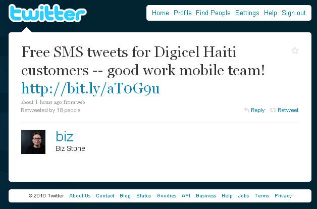 Biz Tweets about Free SMS