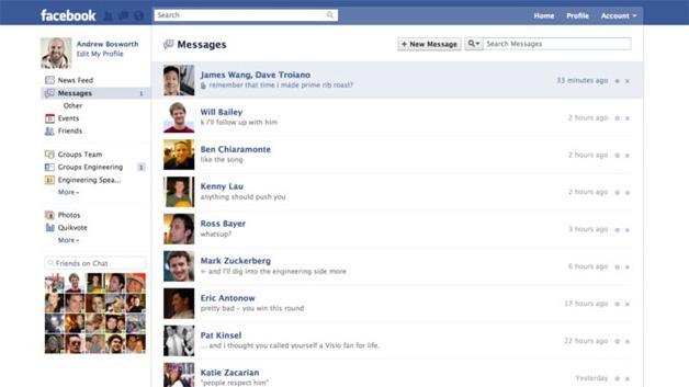 Facebook Reveals Social Inbox