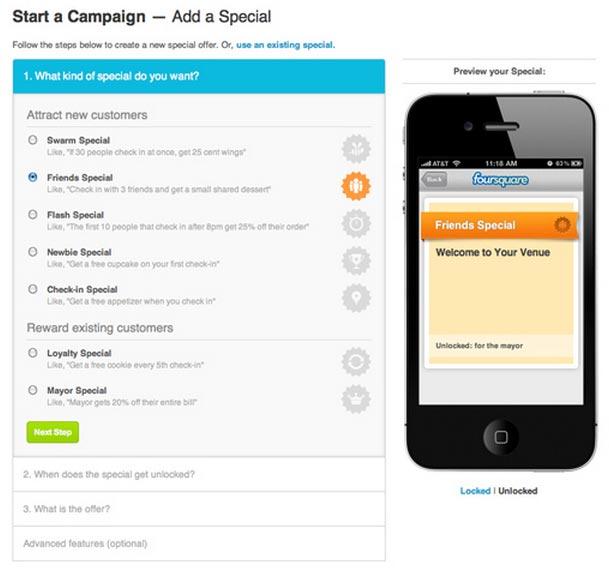 foursquare deals