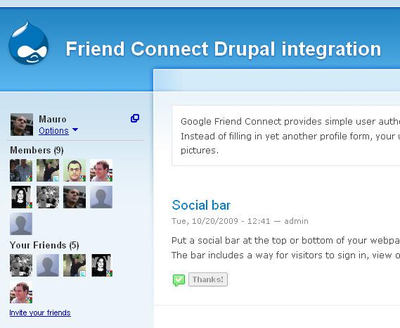 Friend Connect on Drupal