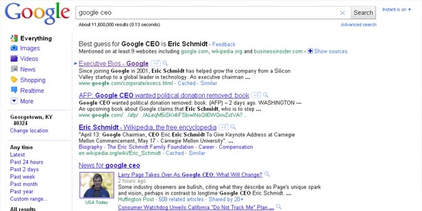 Google's Best Guess for Google CEO
