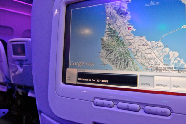 Google maps provides more data on Virgin America Airlines