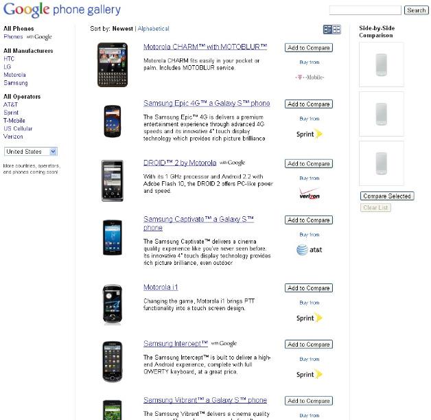 Google Phone Gallery