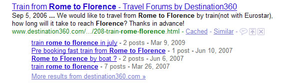 Google Forum Results