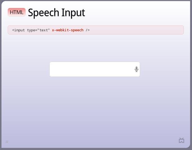 HTML Speech Input in New Chrome Beta