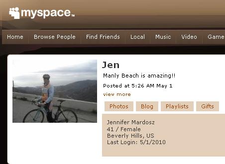 Jennifer Mardosz on MySpace