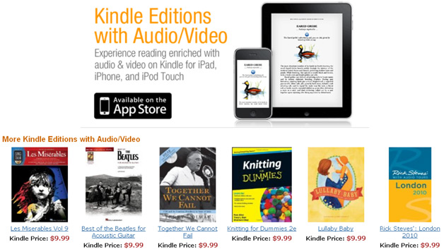 Kindle Audio and Video in Books