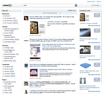 LinkedIn Announces Signal, New Stream-Sorting Feature