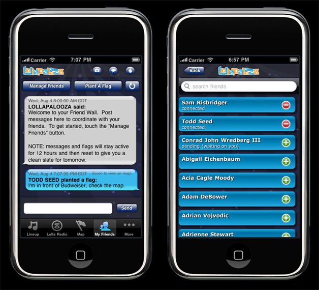 Lollapalooza Taps Facebook Via Mobile Apps