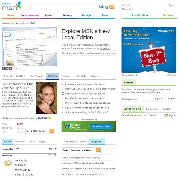 MSN Redesign