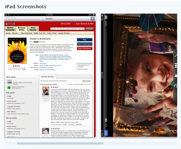 Netflix iPad Screenshots - iPhone app version should be similar