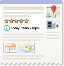 Google now using rich snippets for local search