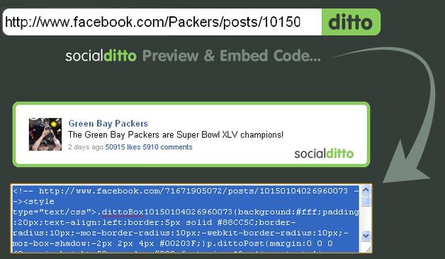 SocialDitto Packers Update
