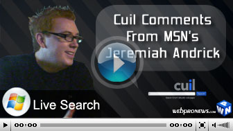 Cuil Comments From MSN's Jeremiah Andrick